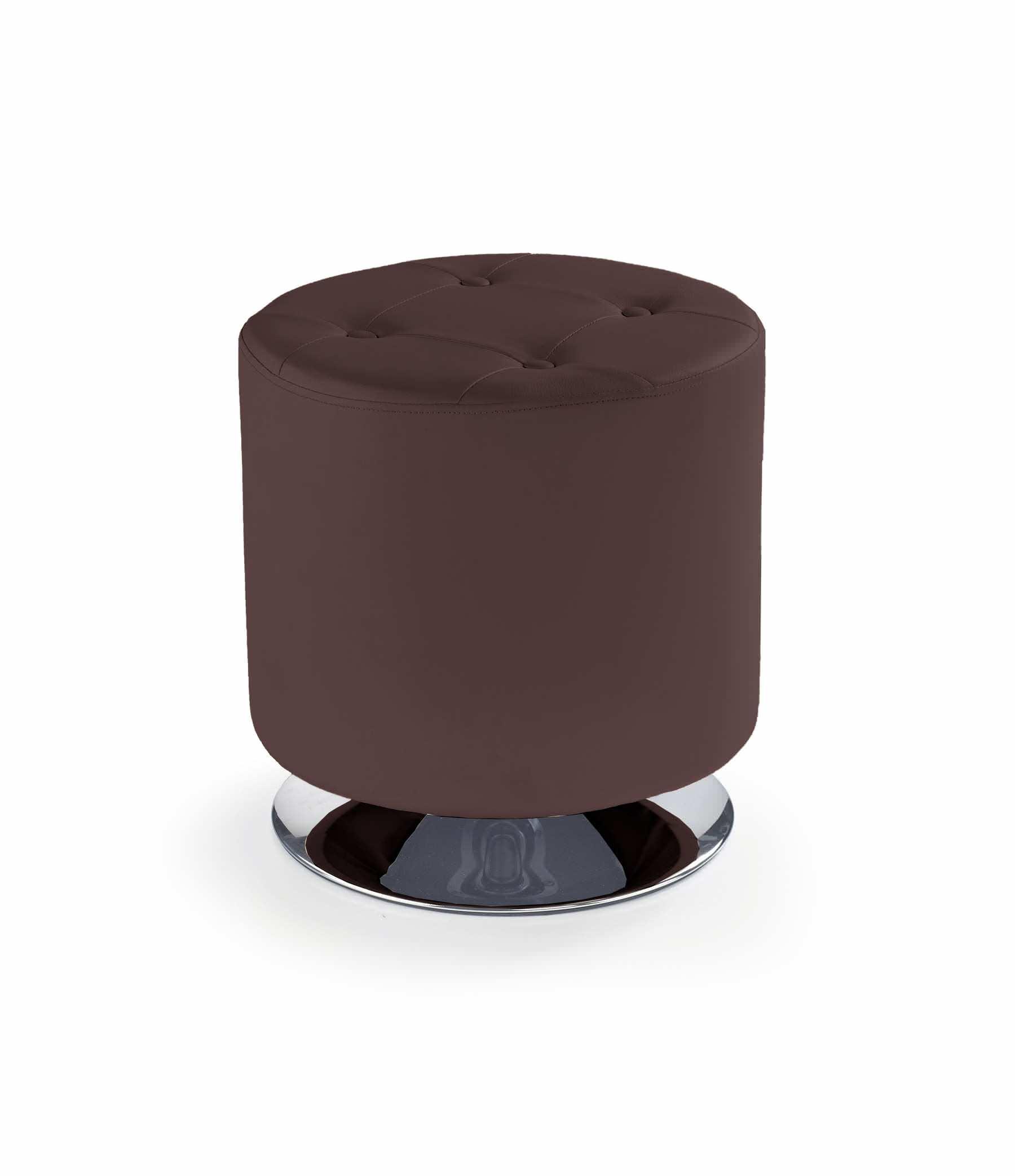 Пуф HALMAR DORA темно-коричневый - Апис плюс