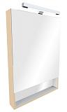 Зеркальный шкаф со светильником ROCA Gap бежевый 70 - Апис плюс