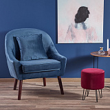 Кресло HALMAR OPALE темно-синий NEW - Апис плюс