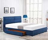 Кровать HALMAR MERIDA синий, 160/200 NEW - Апис плюс