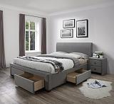 Кровать HALMAR MODENA серый, 140/200 NEW - Апис плюс