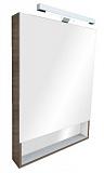 Зеркальный шкаф со светильником ROCA Gap тиковое дерево 60 - Апис плюс