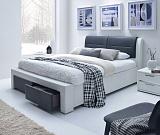 Кровать HALMAR CASSANDRA-S белый/черный, 140/200 NEW - Апис плюс