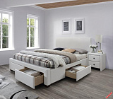 Кровать HALMAR MODENA 2 белая - Апис плюс