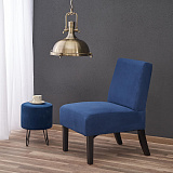 Кресло HALMAR FIDO темно-синий NEW - Апис плюс