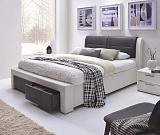 Кровать HALMAR CASSANDRA S бело/черная - Апис плюс