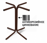 Основание для стола Sheffilton SHT-TU7 коричневый муар (цинк)/черный - Апис плюс