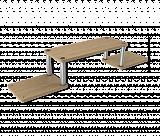 Полка Sheffilton Матрица 54 дуб беленый/алюм.металл/серый - Апис плюс