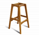Каркас барного стула Sheffilton SHT-S65 светлый орех - Апис плюс