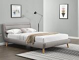 Кровать HALMAR ELANDA светло-серый, 140/200 NEW - Апис плюс