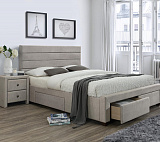 Кровать HALMAR KAYLEON бежевый, 160/200 NEW - Апис плюс