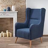 Кресло HALMAR CHESTER темно-синий NEW - Апис плюс