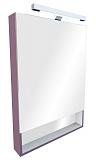 Зеркальный шкаф со светильником ROCA Gap фиолетовый 70 - Апис плюс