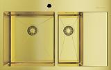 Мойка из н/с OMOIKIRI Akisame 78-2-LG-L нерж/светлое золото - Апис плюс