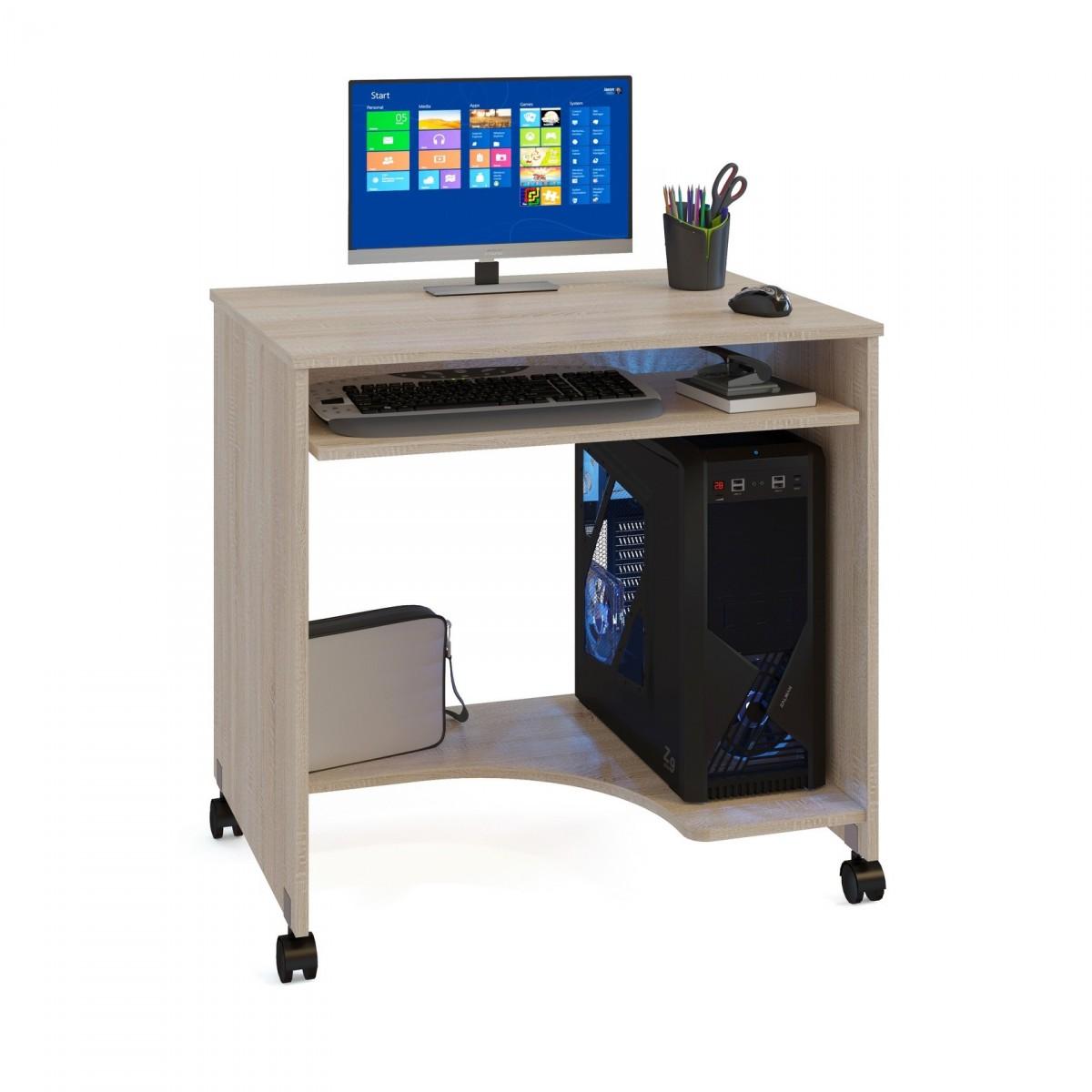 Стол компьютерный Сокол КСТ-15 дуб сонома - Апис плюс