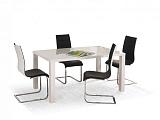 Стол обеденный HALMAR RONALD раскладной, белый, 120-160/80/75 - Апис плюс