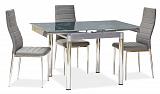 Стол обеденный SIGNAL GD082 серый - Апис плюс