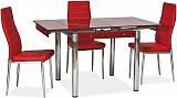 Стол обеденный SIGNAL GD082 красный  - Апис плюс