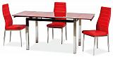 Стол обеденный SIGNAL GD017 красный - Апис плюс