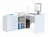 Стол компьютерный Сокол КСТ-109Л белый левый - Апис плюс