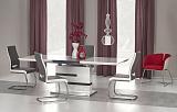 Стол обеденный HALMAR MONACO раскладной, белосерый, 160-220/90/76 - Апис плюс
