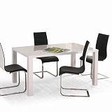 Стол обеденный HALMAR RONALD 140 раскладной, белый, 140-180/80/75 NEW - Апис плюс