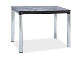 Стол обеденный SIGNAL DAMAR II черныйхром, 100/60/75 - Апис плюс