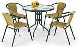 Стол обеденный HALMAR GRAND 80 т.зеленый - Апис плюс