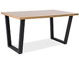 Стол обеденный SIGNAL VALENTINO 150 дуб натуральный/черный 150/90/77 NEW - Апис плюс