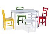 Стол обеденный SIGNAL TIMOR белый - Апис плюс