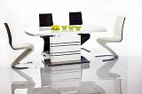 Стол обеденный SIGNAL GUCCI раскладной, белый лак 180-240/76 - Апис плюс
