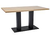 Стол обеденный SIGNAL SAURON 120 дуб/черный, 120/80/78 NEW - Апис плюс
