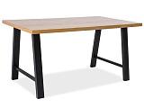 Стол обеденный SIGNAL ABRAMO дуб натуральный/черный, 180/90/77 NEW - Апис плюс