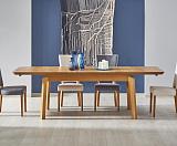Стол обеденный HALMAR ROIS раскладной, медовый дуб, 160-250/90/78 NEW - Апис плюс