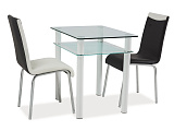 Стол обеденный SIGNAL SONO 80X60, белый - Апис плюс