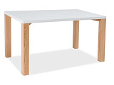 Стол обеденный SIGNAL EGON белыйбук, 120/80/76 - Апис плюс