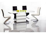 Стол обеденный SIGNAL GUCCI раскладной, белый лак 140-200/76 - Апис плюс
