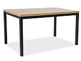 Стол обеденный SIGNAL NORMANO 150 дуб натуральный/черный, 150/90/77 NEW - Апис плюс