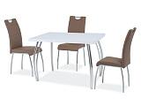 Стол обеденный SIGNAL SK-2 белый лакхром, 102/64/76       - Апис плюс