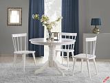 Стол обеденный HALMAR GLOSTER белый, 106/75 - Апис плюс