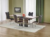 Стол обеденный HALMAR LORD раскладной, св.серый/т.серый, 160-200/90/75 - Апис плюс