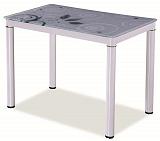 Стол обеденный SIGNAL DAMAR белый, 80/60/75 - Апис плюс
