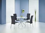 Стол обеденный HALMAR RAYMOND бесцветныйхром, 100/73 - Апис плюс