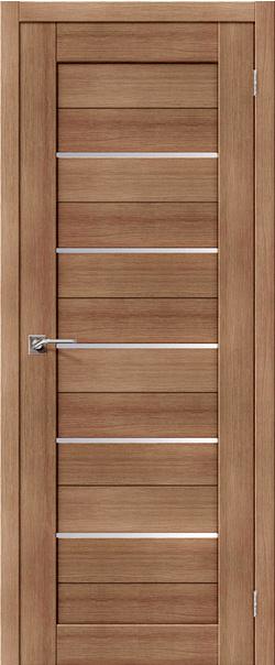 Межкомнатная дверь  22S матовое 800*2000 Орех карамель серия Portas из экошпона   - Апис плюс