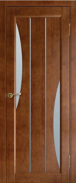 Межкомнатная дверь  Модель №5 ЧО 800.2*2000 Орех серия Массив сосны    - Апис плюс