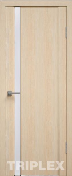 Межкомнатная дверь  Триплекс 5 белый 800*2000 Капучино серия Триплекс из экошпона   - Апис плюс