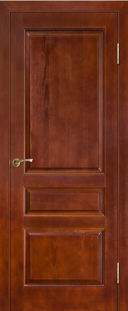 Межкомнатная дверь  Модель №5 пмц ДГ 800*2000 Коньяк серия Массив сосны    - Апис плюс