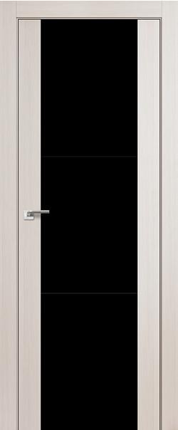 Межкомнатная дверь  22Х черный лак 800*2000 Эшвайт мелинга серия ProfilDoors серия X Модерн из экошпона   - Апис плюс