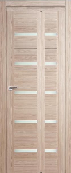 Складная дверь 7 X матовое СКЛАДНАЯ 300*500 Капучино Мелинга Т1     - Апис плюс