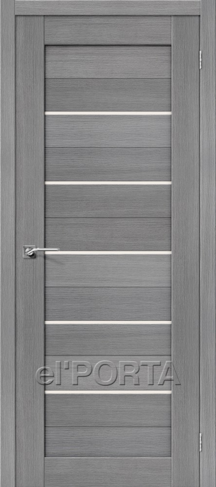 Дверь межкомнатная ПОРТА-22 3D GREY - Апис плюс